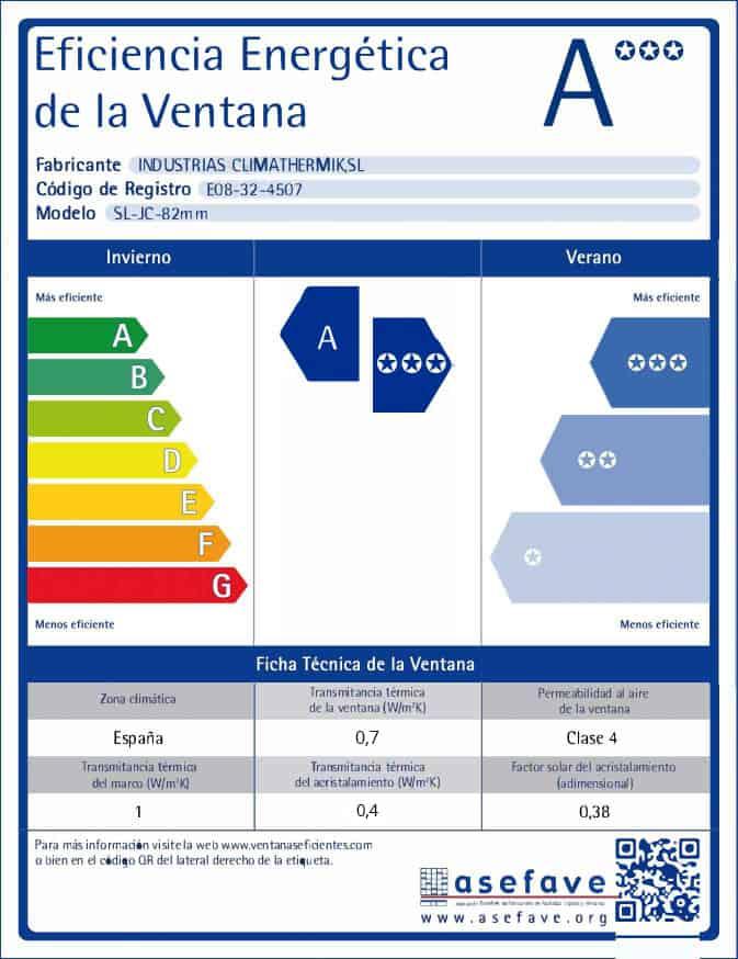 Etiqueta Energética Softline 82 mm